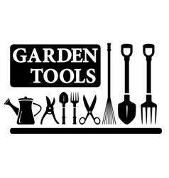 Isolated gardening tools vector