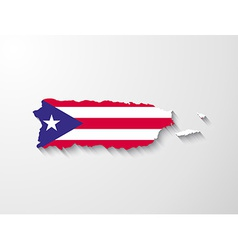 Puerto rico map with shadow effect presentation vector