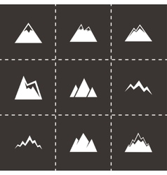 Mountains icon set vector