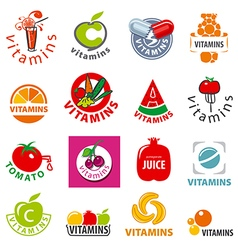 Biggest collection of logos vitamins vector