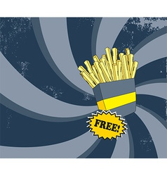 French fries background vector