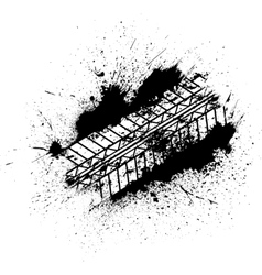 Tire tracks with blots vector