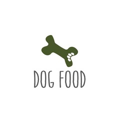 Paw in a bone dog food vector