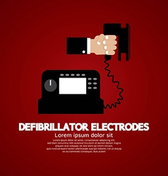 Defibrillator electrodes medical equipment vector