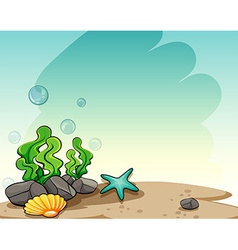 Underwater view vector