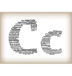 Letter c filled by business words vector