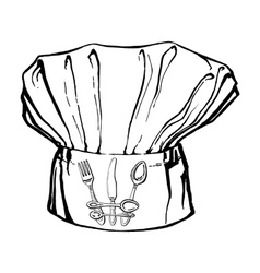 Chefs hat with crown vector