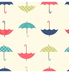 Autumn seamless pattern with a flat umbrellas vector