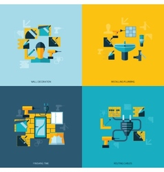 Home repair icons flat vector