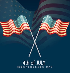 4th of july america flag vector