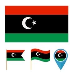 Libyacountry flag vector