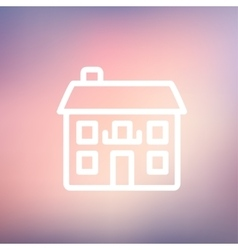 Real estate house thin line icon vector