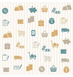 Shopping seamless pattern vector
