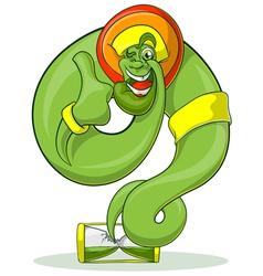 Green genie rastaman vector