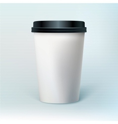 Blank coffee cup vector