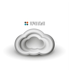 3d white clouds vector