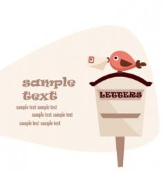 Letter box vector