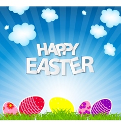 Happy easter spring background vector