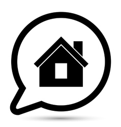 Bubble with home icon vector