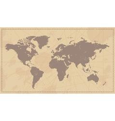 Old vintage world map vector