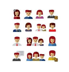 Color people vector