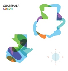 Abstract color map of guatemala vector