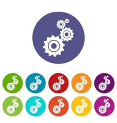 Mechanism flat icon vector