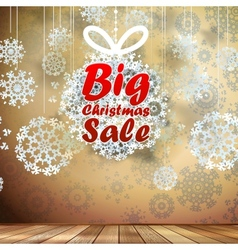 Big sale interior decorated snowflakes eps 10 vector