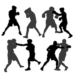 Boxing silhouette vector