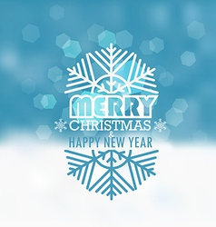 Christmas greeting card snowfall on winter vector