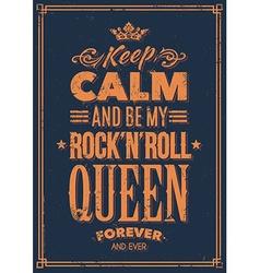 Rock queen typography vector