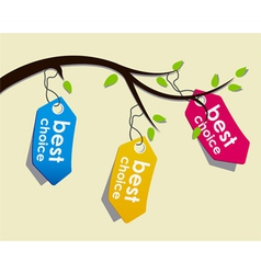Price tags on branch vector