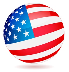 Spherical flag of usa vector