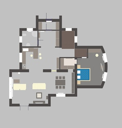 03 house plan v vector