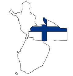 Welcome to finland vector