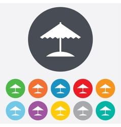 Beach umbrella icon protection from the sun vector