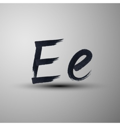 Calligraphic hand-drawn marker or ink letter e vector
