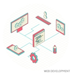 Isometric of website analytics vector