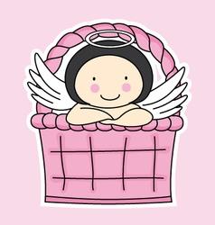 Fairy in a basket vector