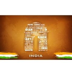 Typography india gate vector