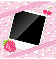 Scrapbook elements with photos frame vector