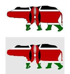 Hippo kenya vector