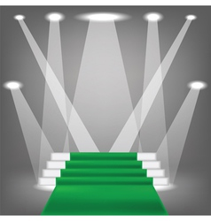 Green carpet vector