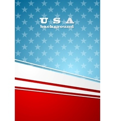 Corporate bright abstract background usa colors vector