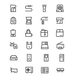 Electronics line icons 4 vector