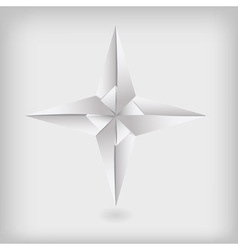 Photo real origami star vector