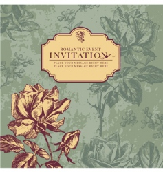 Vintage rose design vector