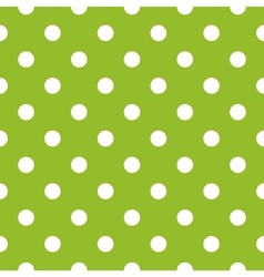 Seamless green pattern with white dots vector