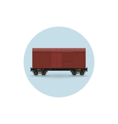 Icon of the covered freight car vector