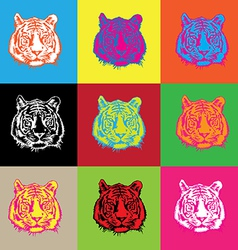 Tiger pop vector